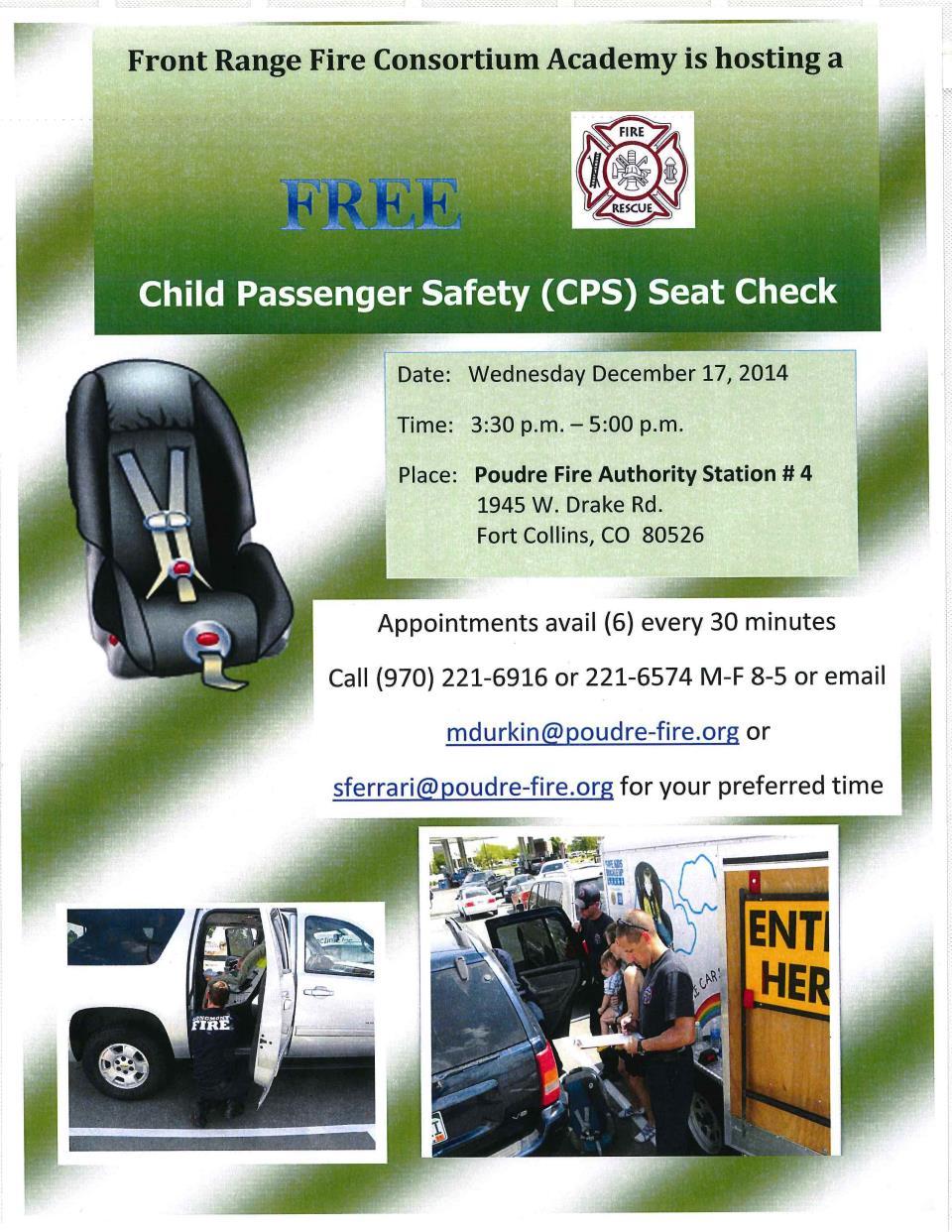 Car Seat Check Up 12 17 14