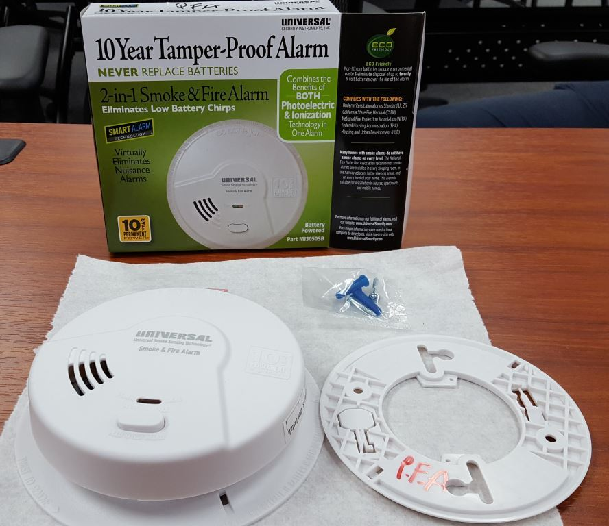 PFA smoke alarms
