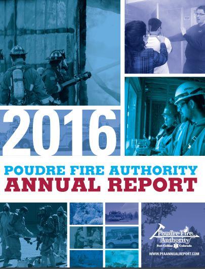 2016 PFA annual report cover image