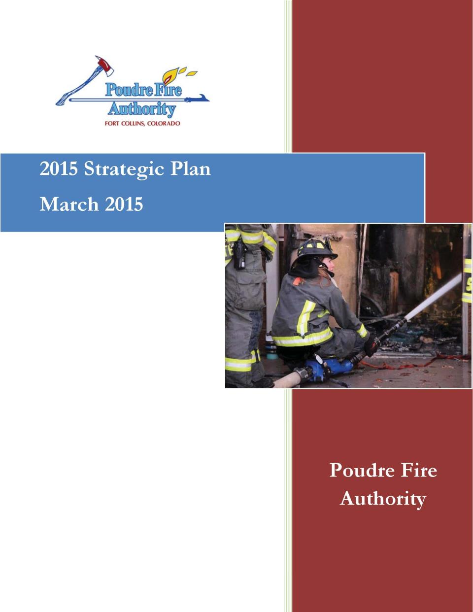 2015 Strategic Plan March 2015 Cover