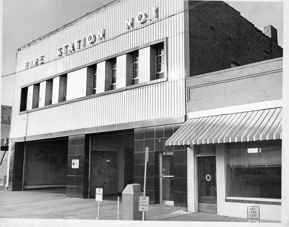 Walnut Street fire station 1958