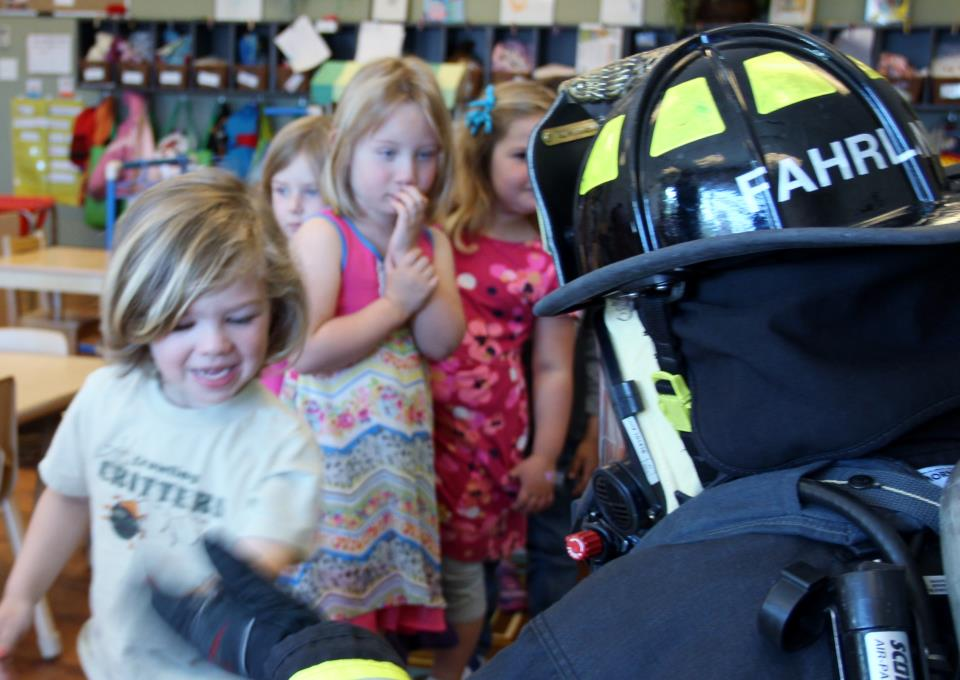 2016 Sunshine House E3 firefighter visit